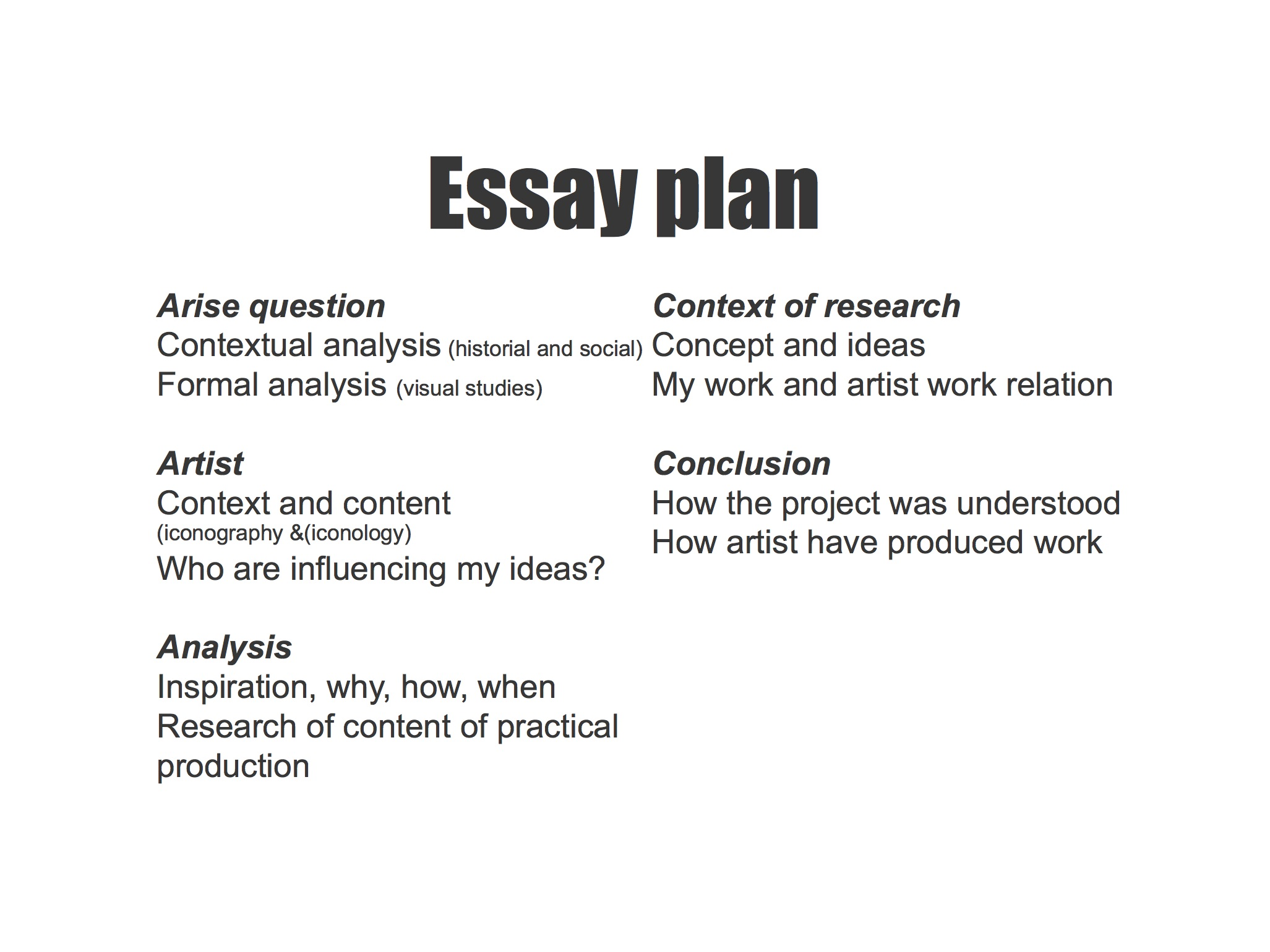 an example of essay